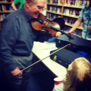Grandpa Burg, a violin hero inspiring future musicians!
