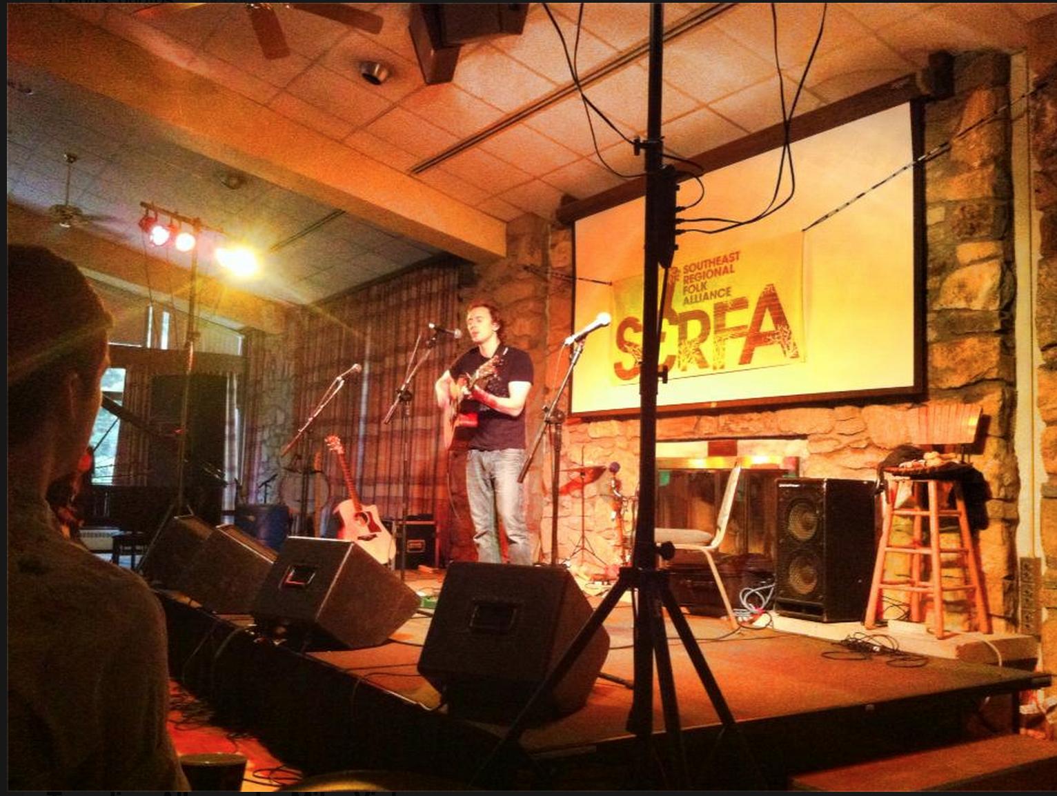Showcasing at SERFA in 2013. Photo Credit: Ashley Jo Farmer